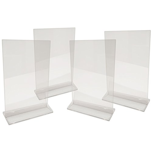 Clear Acrylic Poster Stand (Premium Double Sided Clear Acrylic Sign Holder 5