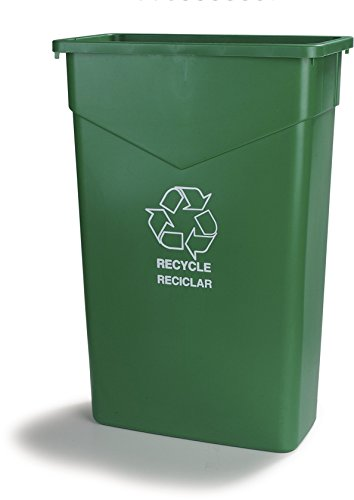 Carlisle 342023REC09 TrimLine LLDPE Recycle Can, 23-gal. Capacity, 20 x 11 x 29.88