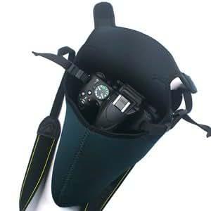 Cosmos Black/Gray DSLR Camera Protection case/Bag/Sleeve for Sony Canon Nikon (Large)