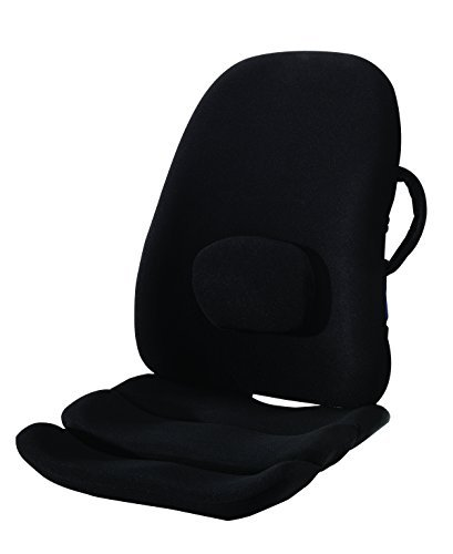 ObusForme Lowback Backrest Support System, Removable Adjustable Lumbar Support, Contoured Cushioning Provides Supportive Comfort, Handle For Portability, Hypoallergenic Cover Can Be Removed To Wash by ObusForme®