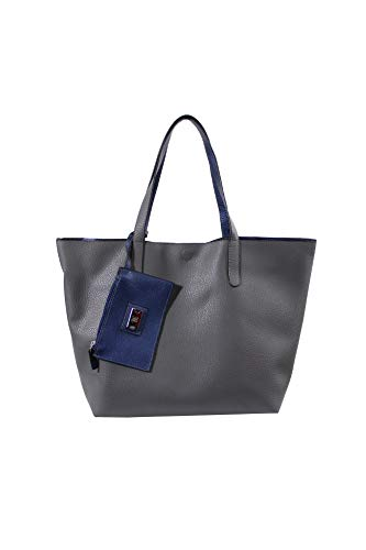 Style & Co. Womens Clean Cut Faux Leather Reversible Tote Handbag Gray Large by Style & Co.