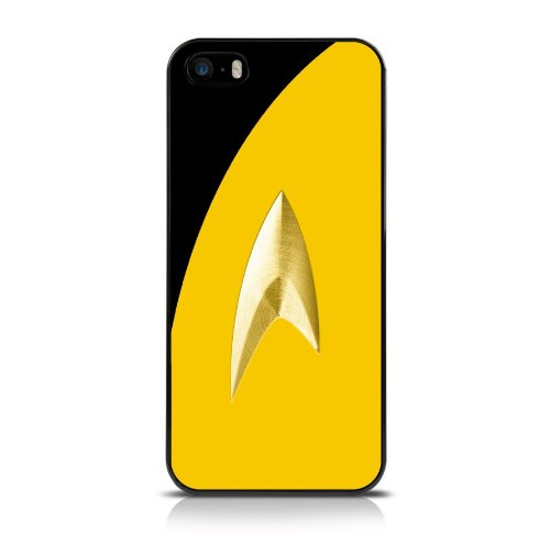 Call Candy Film TV Sammlung Star Trek Uniform Glossy Hard Back Cover Case für Apple iPhone SE/5S/5–Gelb
