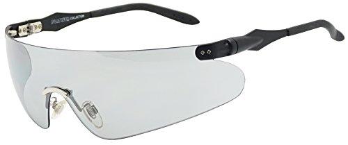 Lightweight Unisex Sports Wrap Sunglasses w/Super Light Transparent Tinted Shield Lens (Black, Transparent Grey)