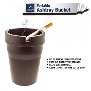 Portable Butt Bucket Cigarette Extinguishing Ashtray Car Home Office BBQ Outdoor by Knight