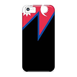 Cases Covers Nepal Flag/ Fashionable Cases For Iphone 5c