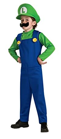 Super Mario Brothers, Luigi disfraz - Multi -: Amazon.es: Ropa y ...