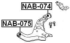 FEBEST NAB-075 Front Control Arm Bushing