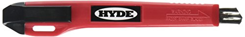 Hyde Tools 42045 Hyde Auto Utility Knife with 1-Piece Positive Lock, 9 Mm, Stainless Steel