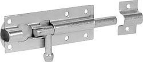 IRONMONGERY WORLDÂ GARDEN GATE SHED SLIDING DOOR TOWER BOLT SILVER GALVANISED IN THREE SIZES (4 INCH/100MM ZINC PLATED) by Ironmongery World