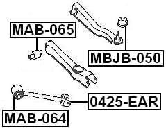 FEBEST MAB-065 Arm Bushing for Track Control Arm