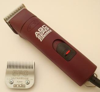 Andis AGC Super 2 speed Dog Grooming Clipper with size 10 & 5FC blades