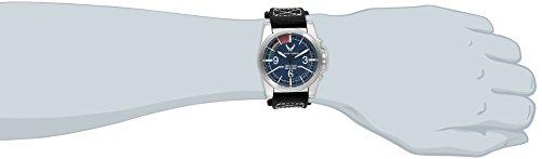 Wrist Armor Men's WA308 C1 Stainless Steel Analog Display Swiss Quartz Watch with Black Canvas Strap