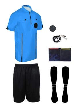 NEW! 2018 Pro Soccer Referee Package (7 Piece) (Blue, Adult Medium)
