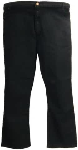 Kam Stretch Jeans Large Size Short Cotton Black