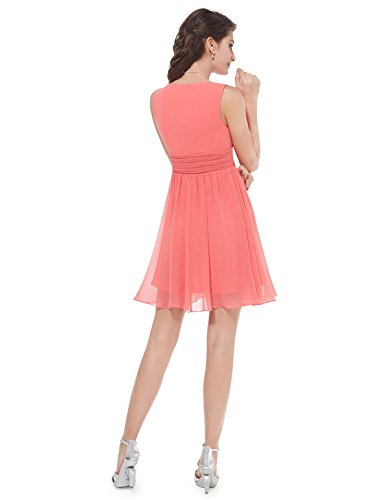 Ever-Pretty - Vestido - para mujer Coral