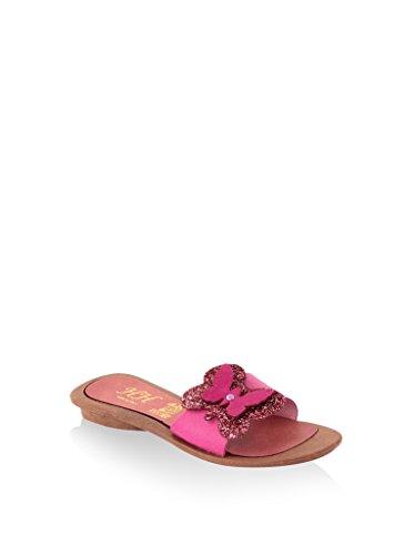 hh-Made in Italy Damen Sandale, Türkis, 41 EU