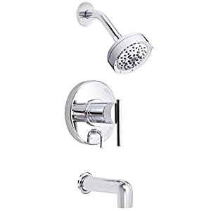 Danze D510058T Parma Single Handle Tub and Shower Trim Kit, 2.5 GPM, Valve Not Included, Chrome