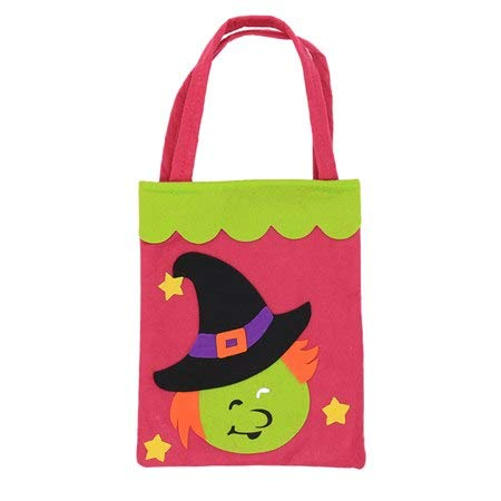 Trick Or Treat - 18x25cm Non Woven Halloween Pumpkin Witches Candy Bag Trick Or Treat Gift Organizer Storage Pouch - Action Soundtrack Dead Poster Movie Hotel Cold Sesame Just Bags Haunted Co