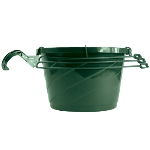 AkroMils HSO12004B66 Euro Swirl Hanging Basket Green 12Inch