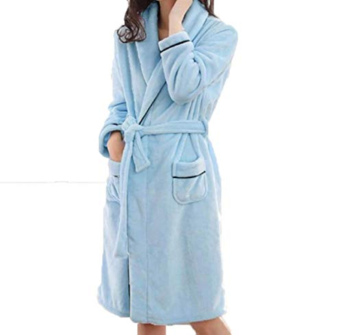 Baño Hombres El Modernas Blue2 E Engrosados ropa Pijamas Damas Caída Camisones Para Invierno Franela Hogar Casual qgHSF