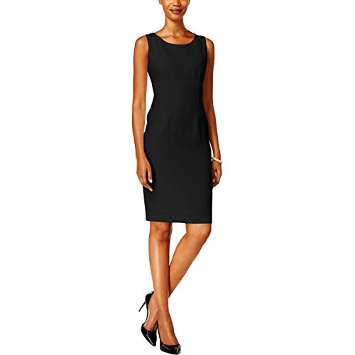 Kasper Women's Stretch Crepe Sheath Dress, Black, 16 from Kasper