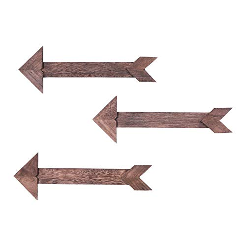 - Comfify Arrow Barnwood Decorative Wooden Sign – Set of 3 Arrows for Wall Décor in Torched Brown – Wood Decorative Signs - Rustic Home Décor Accents – Double Sided Stickers Included