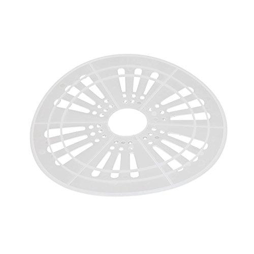 uxcell 24cm Dia Plastic Semi Automatic Washing Machine Spin Cap Cover White