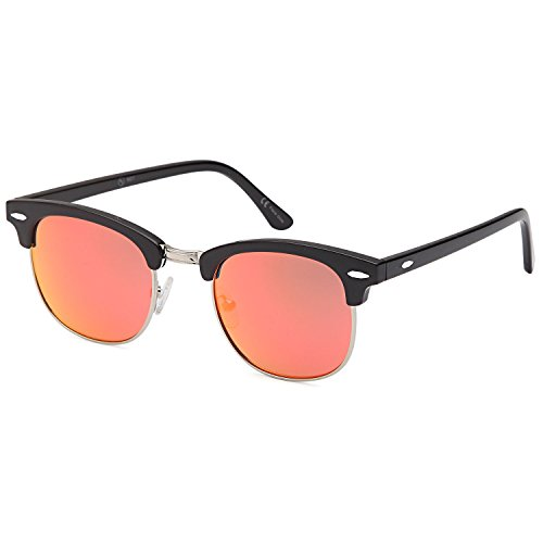 ALTEC VISION Vintage Retro Classic Half Frame Horn Rimmed Sunglasses with Polycarbonate - To Size Sunglasses How