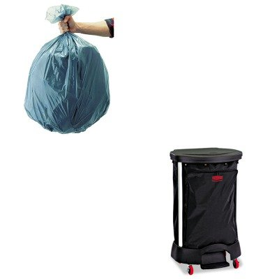 KITRCP501188GRARCP6350BLA - Value Kit - Linen Hamper Bag, 30 Gallon (RCP6350BLA) and Rubbermaid 5011-88 Tuffmade Polyliner Low-Density Can Liners, 55 Gallons ()