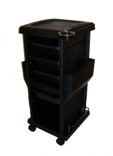 Rollabout Black Haircolor Accessory Beauty Salon Storage Cart 34'' X 17'' X 15'' by Ayc