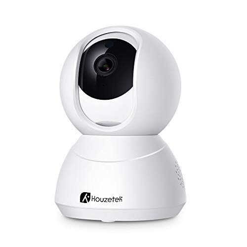Houzetek WiFi IP Camera 1080p Security Smart Home Camera with Night Vision/Motion Detection/Two-Way Audio/Pan/Tilt/Zoom, Wireless Surveillance Dome Camera for Home/Office/Baby/Nanny/Pet Monitor