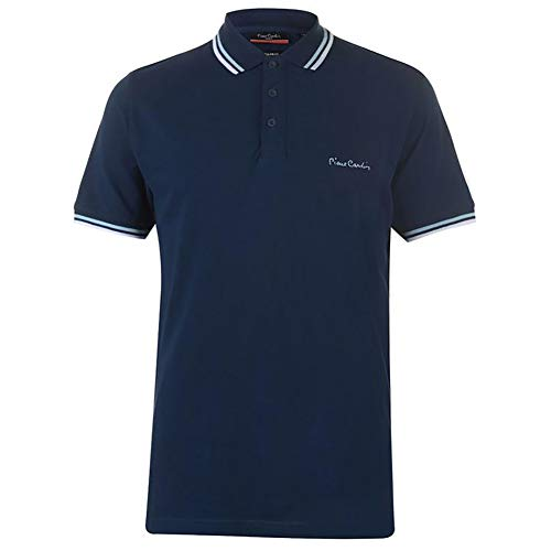Pierre Cardin Mens New Season Classic Fit Tipped Polo (XL, Navy)