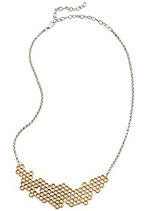 Mignon Faget Hive Honeycomb Necklace, Bronze with Honey Crystal