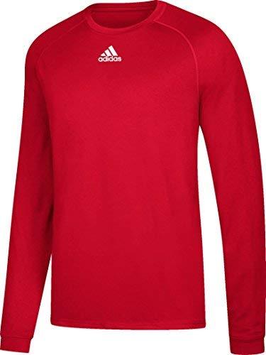 Adidas Mens Climalite Long Sleeve Shirt, Black, Medium