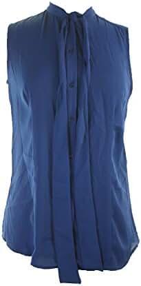 Anne Klein Women's Sleeveless Bow Blouse