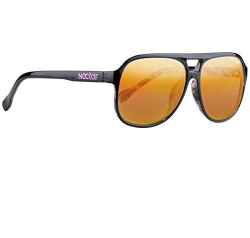 NECTAR Classic Plastic Aviator Sunglasses w/ Polarized Euphoric HD Lenses & UV Protection (Hawaiian Print Frame | Orange Mirror Euphoric HD Polarized - Sunglasses Aviator What Are