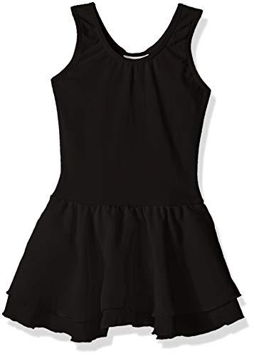 Capezio Girls' Big Classic Double Layer Skirt Tank Dress, Black, Large ()