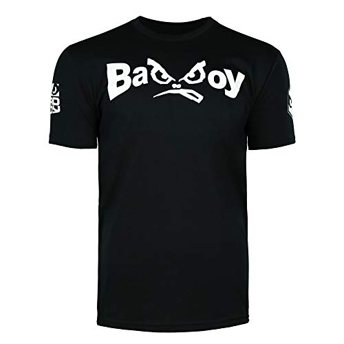 Bad Boy MMA Authentic Classic Retro Logo T-Shirt with Old School Design Black - XX-Large