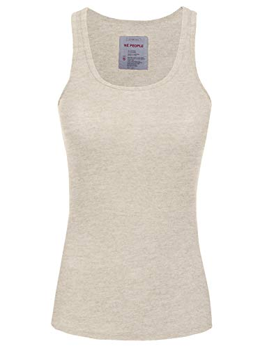 NE PEOPLE Womens Basic Stretch Comfy Fitted Ribbed Tank Top S-3XL