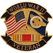 World War II Veteran RPT Duck Flag - Officially Licensed Original Artwork, Expertly Designed, PIN - 1.125