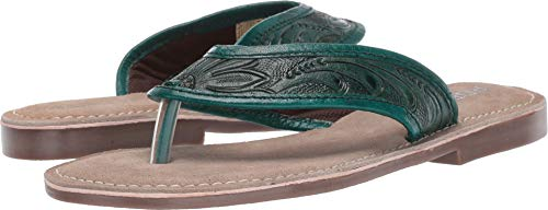 Roper Green - ROPER Women's Penelope Turquoise Green Hand Tooled 8 M US