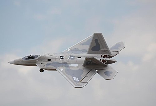 Foam Edf Rc Jet (F-22 Raptor High Performance Version Gray Camo 64mm 4S EDF Ducted Fan Jet RC Airplane PNP (No Radio, battery, charger))