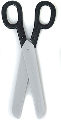 Forum Novelties Giant Scissors Black W/Silver - 15.5 inches (No Sharp (Ribbon Cutting Scissors)