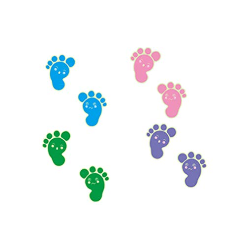 EWQHD Luminous Footprints Floor Sticker for Kids Baby Room Bathroom Floor Decoration Home Decor Decals Glow in The Dark Wall Stickers