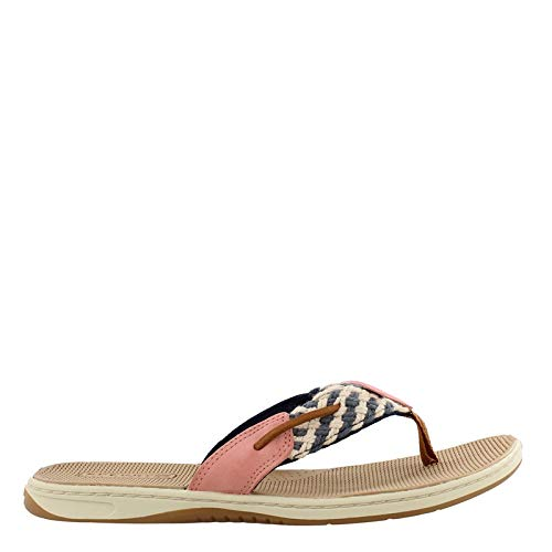SPERRY Women's, Parrotfish Nautical Style Thong Sandal Navy RED 12 M