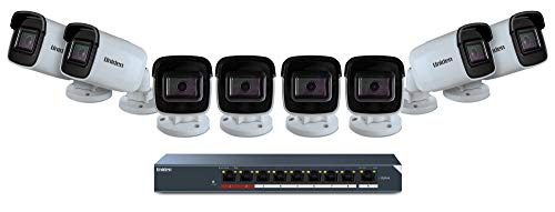 Uniden (UC8800) 8-Camera Cloud Security System, Ethernet Cables, White