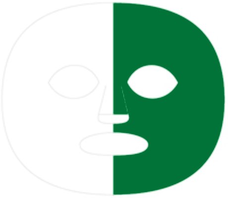 (The Gameface Company Sport Face Splitface White and Dark Green Team Temporary Tattoo)