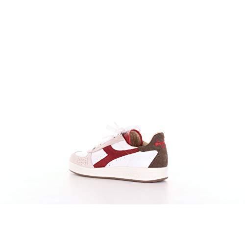 pelle Heritage Bianco Uomo L Sneakers Suede Elite B Diadora S 0q1dzxzw