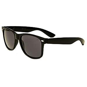Sunglasses Classic 80's Vintage Style Design (Black Classic)