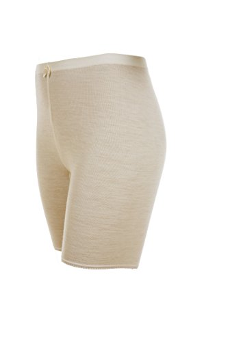 Janus 100% Merino Wool Women's Boxers Bloomers W/Laces Made in Norway (EU 38 (X-Small), White)